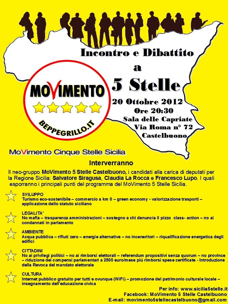 Il movimento 5 stelle castelbuono incontra la cittadinanza for Deputati movimento 5 stelle