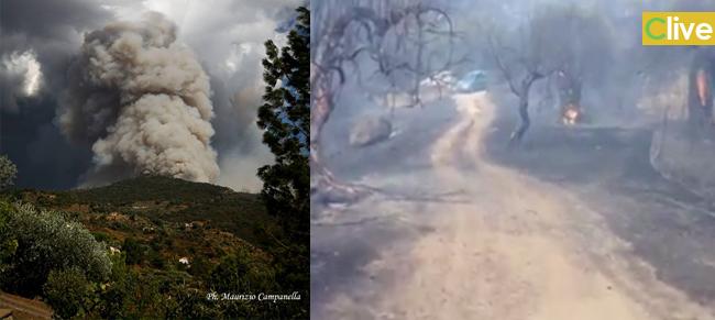 [Aggiornamento] Castelbuono fuoco e devastazione, si teme per alcune abitazioni. Le foto diffuse in rete