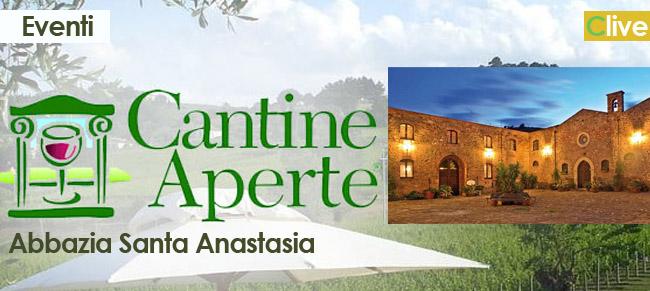 """Domenica 26 maggio """"Cantine aperte"""" all'Abbazia Santa Anastasia"""