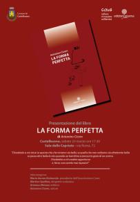 """Sabato 23 marzo la presentazione del libro di poesie """"La forma perfetta"""""""