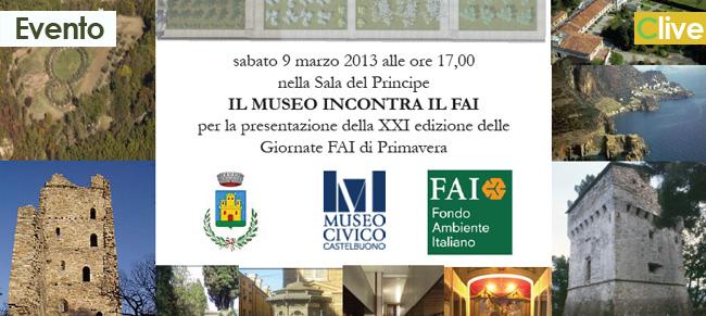 Sabato 9 marzo il Museo Civico incontra il FAI