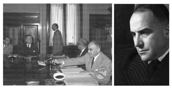 Foto 8: Lorenzo Spallino, in primo piano, all'epoca in cui fu Sottosegretario alla Presidenza del Consiglio dei Ministri
