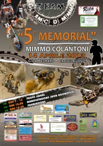 Domenica 14 aprile il 5° Memorial Mimmo Colantoni
