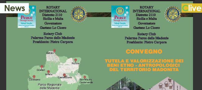 Il Rotary Club Palermo e il Parco delle Madonie organizzano un convegno sulla tutela e valorizzazione dei beni etno-antropologici delle Madonie