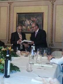 La visita dello sceicco a Castelbuono e il pranzo nel salone delle feste di palazzo Turrisi-Colonna