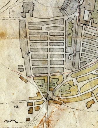 foto 12 La zona di san Leonardo e la mappa dei giardini insistenti su essa