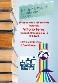 Il Procuratore aggiunto Vittorio Teresi incontra gli alunni della scuola media di Castelbuono