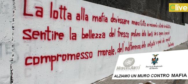 Alziamo un muro contro la mafia: la Provincia bandisce un concorso per la realizzazione di murales