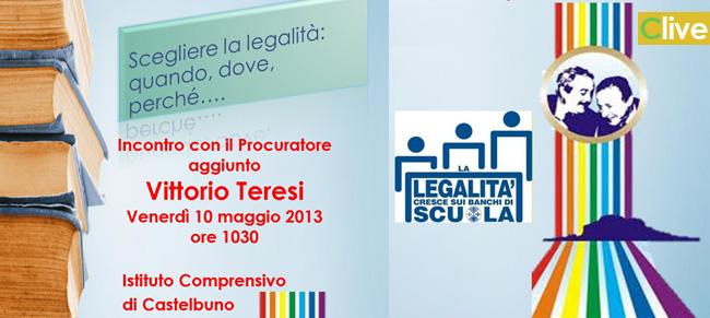 Il Procuratore aggiunto Vittorio Teresi all'Istituto Comprensivo di Castelbuono