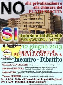Dibattito sul tema della salvaguiardia dell'Ospedale di Petralia Sottana
