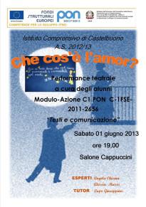 Performance teatrale degli alunni dell'Istituto comprensivo di Castelbuono
