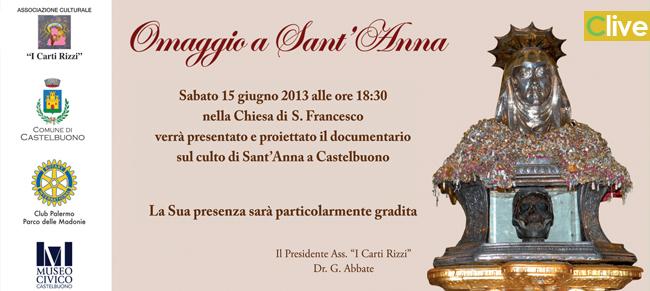 """""""Omaggio a Sant'Anna"""", documentario sul culto di Sant'Anna a Castelbuono"""