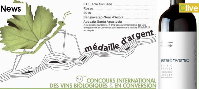 Abbazia Santa Anastasia premiata a Parigi con medaglia d'Argento al 17° Concorso Internazionale dei vini biologici