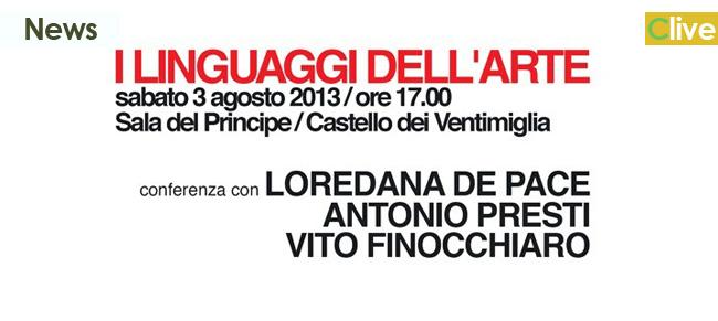 """Sabato 3 agosto """"I linguaggi dell'Arte"""" al Castello dei Ventimiglia"""