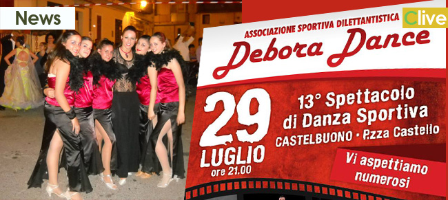 """Tredicesimo spettacolo di Danza Sportiva """"DEBORA DANCE CASTELBUONO"""""""