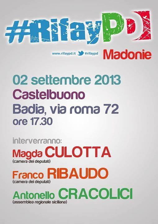 RifayPD: il 2 settembre l'incontro a Castelbuono