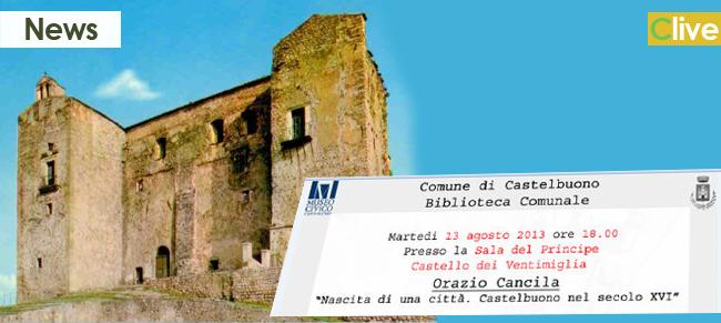 Il 13 agosto la presentazione del volume di Orazio Cancila su Castelbuono