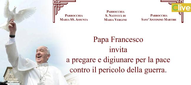 Papa Francesco invita a pregare e digiunare contro il pericolo della guerra