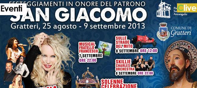 Gratteri: la festa di San Giacomo tra fede e big della musica italiana