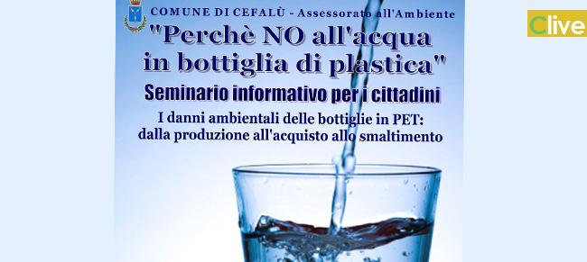 Cefalù dice no all'acqua in bottiglia di plastica