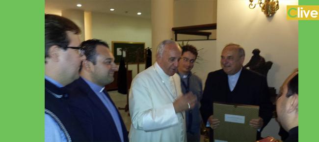 Da Cefalù a cena con papa Francesco