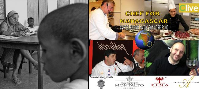 """NATALE GIUNTA, NICOLA FIASCONARO E PEPPE CAROLLO  CHEF FOR MADAGASCAR  UNA NOTTE DI BENEFICENZA """"BORN IN SICILY"""""""