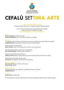 """Cefalù: Convegno """"Arte Cinematografica e sviluppo del territorio"""""""