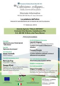 """Giornata informativa su """"La potatura dell'olivo - Interventi di razionalizzazione per la riduzione dei costi di produzione"""""""
