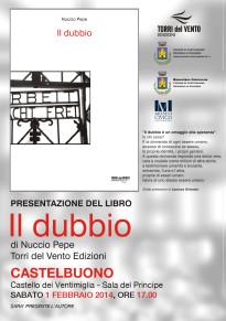 """Sabato 1 febbraio la presentazione del libro """"Il dubbio"""" di Nuccio Pepe al Castello dei Ventimiglia"""