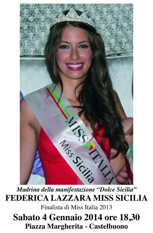 """Miss Sicilia Federica Lazzara madrina della manifestazione """"Dolce Sicilia"""""""
