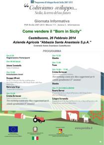 """La SOAT Castelbuono organizza una giornata informativa sul tema """"Come vendere il Born in Sicily"""""""