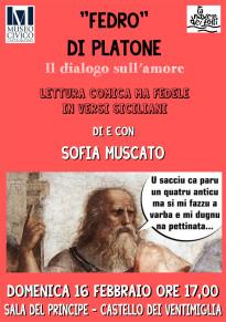 """Il 16 Febbraio al Castello di Castelbuono Sofia Muscato legge """"FEDRO"""" di Platone in versi siciliani"""