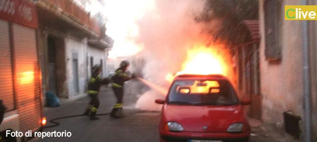 Finale di Pollina: In fiamme auto di un vigile urbano, incendio doloso