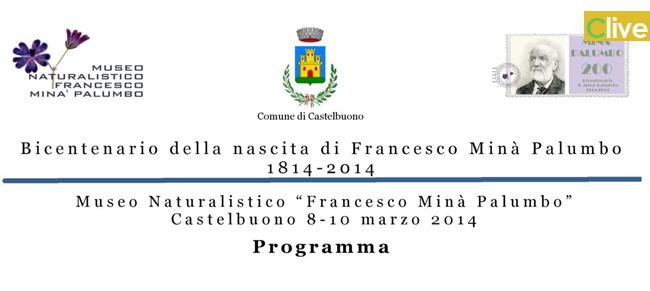 Bicentenario della nascita di Francesco Minà Palumbo: il programma definitivo