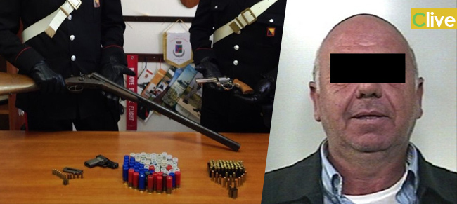 San Mauro Castelverde. Nascondeva due pistole ed un fucile in casa: arrestato un uomo