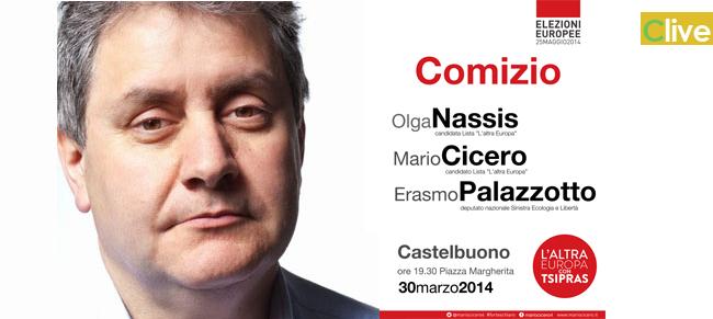 Elezioni Europee, L'Altra Europa apre a Castelbuono con Cicero, Nassis e Palazzotto