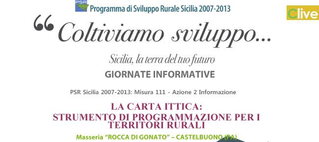 """S.O.A.T. di Castelbuono: giornata informativa sul tema """"La carta ittica: strumento di programmazione per i territori rurali"""""""