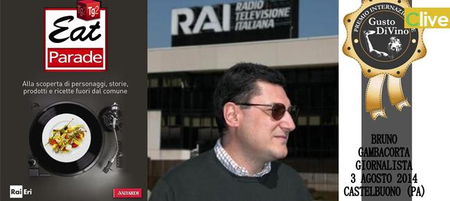 """Castelbuono: Bruno Gambacorta (TG2) """"ambasciatore del gusto"""" al premio Gusto Divino 2014"""