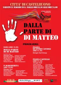 """Sabato 31maggio 2014 a Castelbuono iniziativa di solidarietà: """"Dalla parte di Di Matteo"""""""