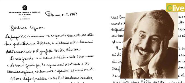 La lettera scritta di pugno da Giovanni Falcone in occasione della manifestazione di solidarietà in favore del giudice Nino Di Matteo