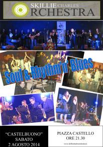 Sabato 2 agosto in Piazza Castello concerto Soul & Rhythm'n' Blues della Skillie Charles Orchestra