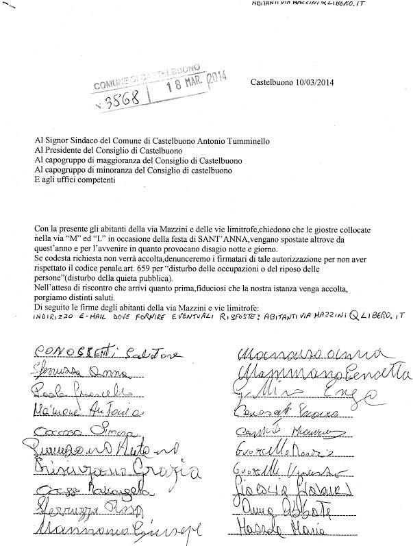 Castelbuono: gli abitanti di via Mazzini non vogliono le giostre e chiedono un incontro con l'Amministrazione comunale