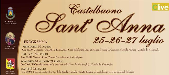 Il programma dei festeggiamenti in onore della Patrona Sant'Anna