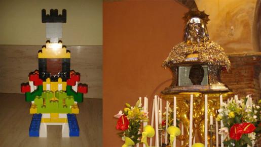La Madonna del Rosario, Sant'Anna e San Guglielmo rivisitate in chiave LEGO da un dodicenne castelbuonese