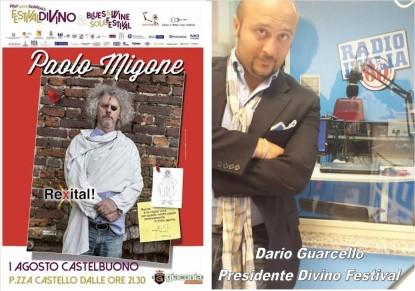 Il comico PAOLO MIGONE l'1 agosto a Castelbuono. RADIO ITALIA ANNI 60 (ME) sarà la radio ufficiale del FESTIVAL