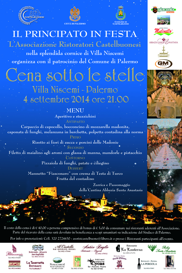 Cena sotto le stelle - Palermo