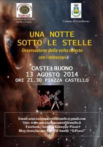 """Torna """"una notte sotto le stelle"""": osservazioni telescopiche da piazza Castello"""