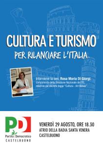 """Il Circolo PD di Castelbuono organizza l'evento """"Cultura e turismo - per rilanciare l'Italia"""""""