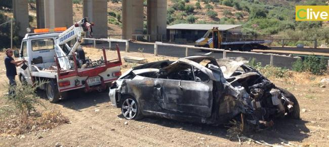 Automobile giù dal ponte. Grave incidente sulla A19 a Caracoli