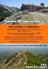 Pellegrini in trekking: A Madonna dell'Alto per riscoprire la Sacralità del territorio madonita